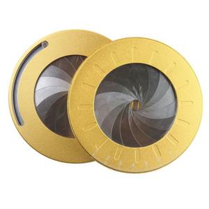 Círculo de aluminio redondo de Redacción geométrico de la plantilla Plantilla medida de la regla