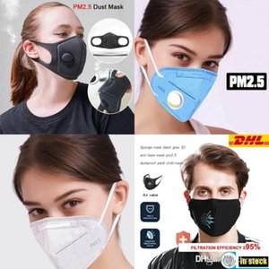 Folding Face Mask Anti-dust Respirator Face Mask with Self-priming Filter With Retail Package Free Ship