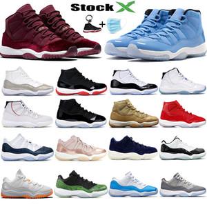 Top 11s Concord 45 Sneakers firmate 11 Scarpe da basket in platino tinta bassa blu notte navy per uomo donna XI scarpe da ginnastica da corsa 36-47