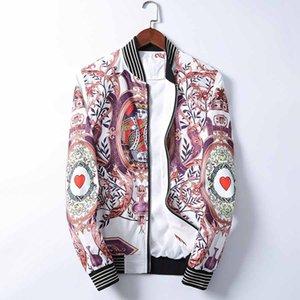 new Men Medusa Jackets Long Sleeve Zipper Jacket Fashion Pattern Print Slim Fit Windbreaker Mens Antumn Winter Outdoorwear Coats