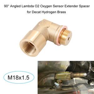 Freeshipping 90 Angled Lambda O2 Sensor De Oxigênio Extensor Espaçador para Decat Hidrogênio Latão M18x1.5