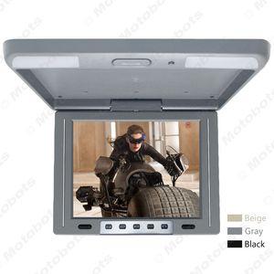 """Araba Video 3-Renk 12"""" Araba / Otobüs TFT LCD Çatı Monitör 2-Yönlü Video Girişi 12V # 1287 Aşağı Monitor çevirin Monteli"""