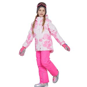 Children's Ski Wear Set Outdoor Charge Ski Suit Windproof Waterproof Printed Fabric