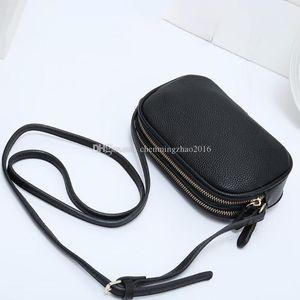 2020 nuova borsa del cuoio sacchetti dell'unità di elaborazione borsa a tracolla piccola moda corpo traversa messaggero donne borsa in vera pelle nera