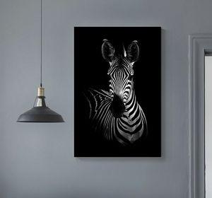 Afrique Animaux Sauvages Toile Peinture sur bois Tendues pin massif bricolage en bois Photos Cadre d'affiche d'art de mur avec Home Décor
