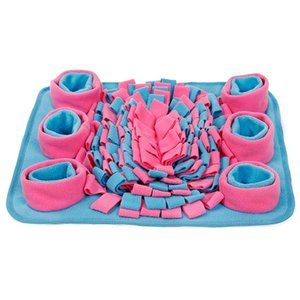 Snuffle Feeding Mat Washable Training Product Sniffing Fleece Pad for Cats Stress Interactive Toys Slow Feed Mat