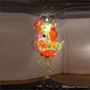 Incrível Chihuly decorativa Lustres Luminárias Tamanho Grande Energy Saving Mão Blown Chandelier Pingente lâmpadas Murano Vidro para teto