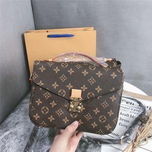 Fashion LVLOUISVUITTONbags paris Pochette Metis bags fashion messenger bag Women Shoulder Bag Classic Gold Chain