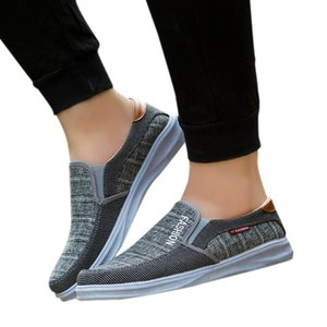 YOUYEDIAN chaussures hommes mode extérieur toile Casual Slip-On Chaussures Chaussures Lazy Respirant Chaussures tenis masculino adulto para