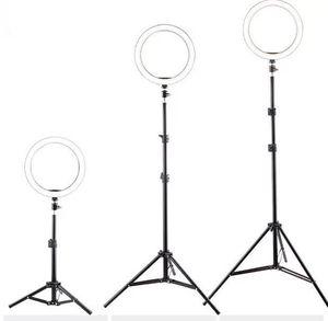Live Selfie Lights Stativständer Halter 210 cm + 26 cm Ringlicht 3 Modi Einstellbar + Inner Cliphalter für Handy
