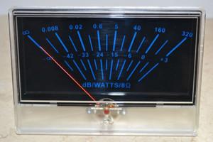 Freeshipping VU panel meter DB Nivel Encabezado Potencia de audio P-134 Amplificador chasis Luz trasera