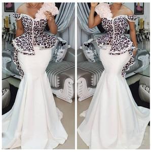 2021 Abiti da sera in pizzo a sirena Top Abiti da sera formale Treno lungo Treno lungo Donne Prom Dresses personalizzato Vestidos de Soiree Plus Size Abiti speciali