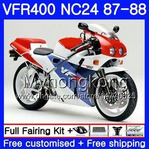 Corpo para HONDA RVF400R VFR400RR RVF400RR fábrica azul VFR400R 1987 1988 267HM.28 VFR400R NC24 V4 RVF VFR 400 R VFR 400R 87 88 kit Carenagem