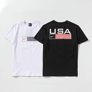 T-Shirts do designer de homens Carta de marca Impressão T-shirt Respirável Moda Casual Verão Tees 2020 New Arrival Short Sleep Tops B; ack White