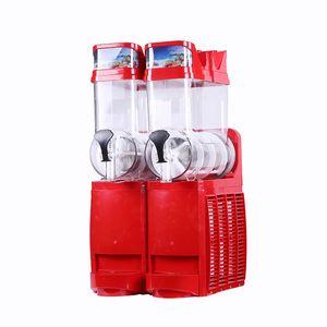 Kommerzielle Schnee-Schmelzmaschine / Doppel-Tank Slush Machine / Cold Drink Maker / Smoothies Granita Machine / Sand Eismaschine 30L