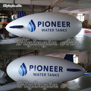 Outdoor Advertising Inflatable Helium Blimp 4m 5m 6m Long Flying Sky Balloon Printed Airship Model For Parade And Event