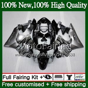 HONDA CBR 919RR CBR900 RR CBR 900RR CBR919RR 98 99 50MF1 CBR 919 RR CBR900RR CBR919 RR 1998 1999의 은빛 검정색 바디 Fairing Bodywork