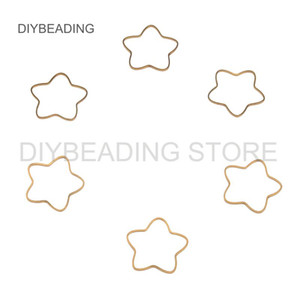 50-1000 Pcs Brass Component for Jewelry Making Outline Flower Charm Link Connector Earring Necklace Finding Lots Wholesale