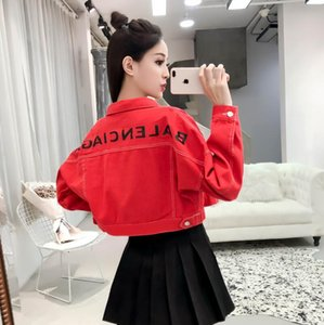2020 Damen-Denim Strickjacke Jacke Designer Baseballjacke Damen Jeans Damen beiläufige lose kurze Jacke Großhandel