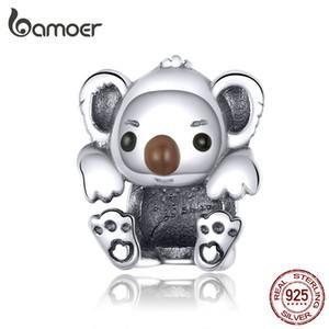 Bebek Koala kadınlar için güzel Boncuk Takı Yapımı 925 Ayar Gümüş Hayvan Charm fit Bilezik Bileklik Takı