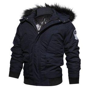 Мужская зимняя куртка сгущает теплый хлопок парки с капюшоном пальто флис мужские куртки и пиджаки ветрозащитный куртка Jaqueta Masculina