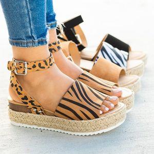 Women's Sandals Plus Size Wedge Heel Shoes Ladies High Heel Summer Shoes Clip Toe Sandals Thick Bottom Sandals