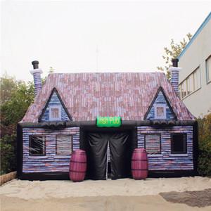 Подгонянный Раздувной Pub ирландский паб надувные Раздувной шатер адвокатского сословия с воздуходувкой для напольного украшения