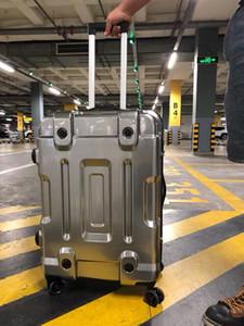 "220""24""inch 100% Aluminum Alloy Business Travel Malas de viagem com rodinhas TSA Lock Cabin Trolley Suitcase Carry on Luggage"