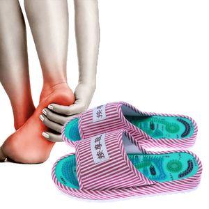 KONGDY точечный массаж точки массаж обувь 1 пара магнитные рефлексотерапия тапочки обезболивание релаксация ног здоровый уход обувь C18122801