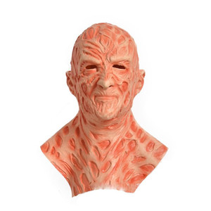 Freddy Krueger Latex Mask Gloves Costumes Adult Party Costume Friday The 13th Killers Jason Horror Movies Scary Mask