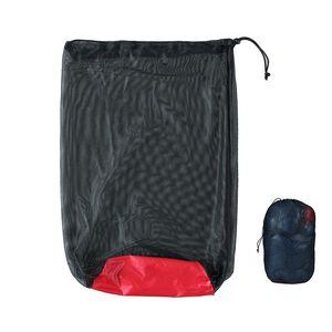 Nylon Sólido Mochilero Paquetes Negro Durable Anti Deshumidificación Bolsa de Compresión Ultra Ligero Portátil Plegable Venta Caliente 6 49jyI1