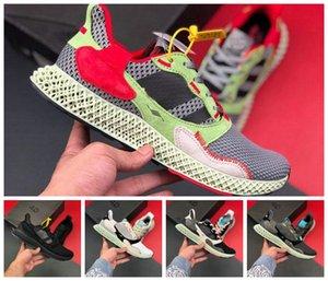 ADIDAS 2019 zx4000 Futurecraft 4D ZX 4000 Futurecraft 4D alphaedge y3 erkekler koşu ayakkabı orijinal tasarımcı marka sneakers siyah beyaz boyut 36-45