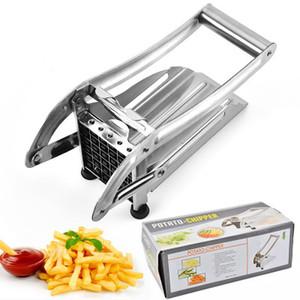 Acciaio inossidabile French Fries Cutters Potato Chips Striscia di taglio della macchina del selettore rotante dell'affettatrice Dicer W / 2 Lame cucina gadget