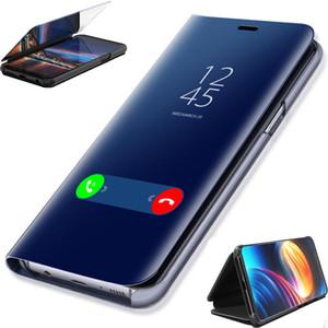 Smart Luxury Mirror Flip Case para Xiaomi Mi 5X A1 Mi5X MiA1 Estuche para Redmi 4X Funda Clear Smart View Soporte a prueba de golpes