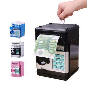 Caja de seguridad electrónica de Piggy Bank Cajas de dinero para niños Monedas digitales Ahorro de efectivo Depósito seguro Cajero automático Kid Regalo de Navidad C18122201