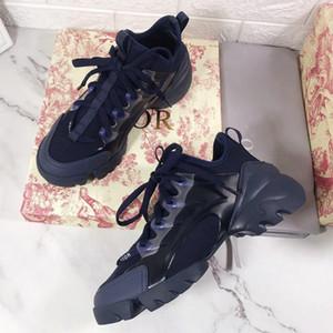 Dior shoes нового дизайнер повседневной обуви мода цветы спорта обувь женщина работает печать кружево толстого дна роскошь Bowling обувь Большой