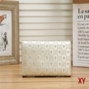 2020 Luxury women flower pu leather coffee black white grid wallet female clutch purse ladies classic single zipper wallets long purse