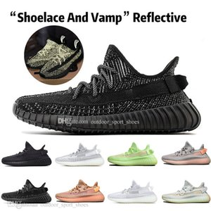 Sale Kanye West Clay V2 Static Reflective GID Glow In The Dark Mens Running Shoes Hyperspace True Form Zebra Women Sports Designer Sneakers