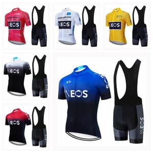 squadra INEOS corte ciclismo pantaloncini corti Maglia bretelle imposta manica corta estate traspirante Abbigliamento Maillot Ropa Ciclismo S2031804