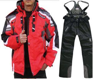 nouvelles vestes de costume de ski chaud et pantalons imperméables pour hommes