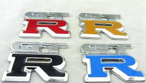 Alta qualità GTR in metallo cromato dell'automobile 3D del distintivo dell'emblema dell'automobile autoadesivo auto GTR metallo styling insegne gtr trasporto libero