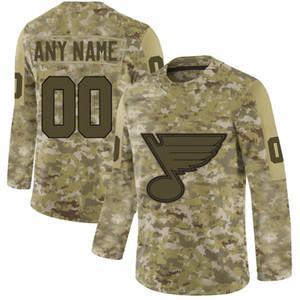Mens Camo St. Louis Blues 90 Ryan O'Reilly 6 Joel Edmundson 50 Binnington 91 Vladimir Tarasenko 99 Wayne Gretzky Hockey su misura
