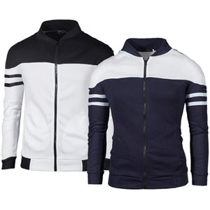 Vestes d'automne Hommes Golf printemps Manteau Vestes rayé Patchwork Slim Fit Hommes Casual Sport Veste Homme Homme Hauts Sportwear