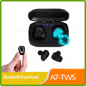 A7 TWS Беспроводная Связь Bluetooth Наушники Стерео Бас Гарнитура Hands free Спорт Bluetooth Earpod Для Xiaomi Huawei Телефон PK i10 tws X2T