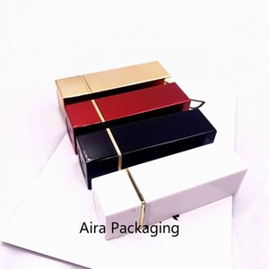 Black Plastic Empty Cosmetic Lipstick Tube12.1mm Gold White Red Elegant Hollow Makeup Lip Container 20Pcs Lot