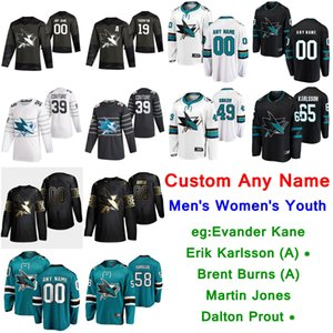 S-6XL 2020 All-Star San Jose Sharks Eishockey Trikots Evander Kane Jersey Erik Karlsson Brent Burns Martin Jones Dalton Prout Individuelle genähtes