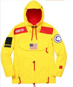 2019 Su Geçirmez kuzey Ceketler amaçlı tur Erkek Giyim için Ceketler Üçlü ortak kapüşonlu elbise 17ss ulusal bayrak eşofman