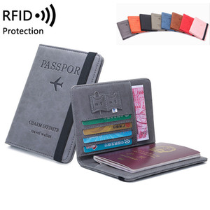 Slim PU Leather Travel Passport Wallet Holder RFID Blocking ID Card Case Cover for Identity Theft Protection