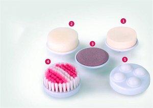Elettrico Viso Scrubbers multifunzionale faccia spazzola di pulizia 3D doppio silicone laterale poro profondo esfoliante pulizia Strumenti di trucco facciale
