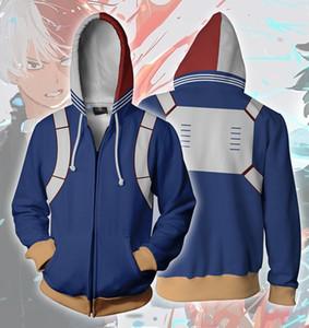 MI HÉROE UNO DE JUSTICIA de impresión en 3D cosplay Hoodies Hombres sudadera con capucha de materiales con la cremallera Superhero suelta y cómoda
